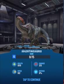JW Alive Argentinosaur