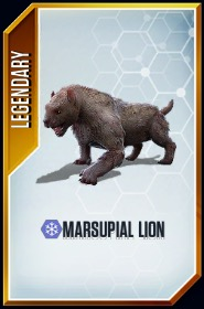 Marsupial Lion card