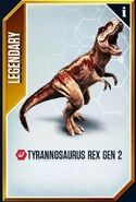 Tyrannosaurus Rex Gen 2 card