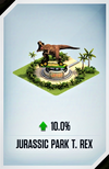 Jurassic Park T. rex Card (No chances)