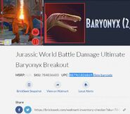Mattel Jurassic World Battle Damage Ultimate Baryonyx Breakout