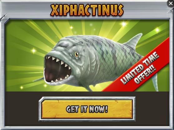 Xiphactinus | Jurassic Park Builder Wiki | FANDOM powered ...