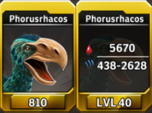 Phorusrhacos Level 40 Tournament-Battle Arena Profile Picture