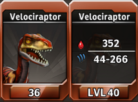 Velociraptor Level 40 Tournament-Battle Arena Profile Picture