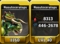 Nasutoceratops Level 40 Tournament-Battle Arena Profile Picture