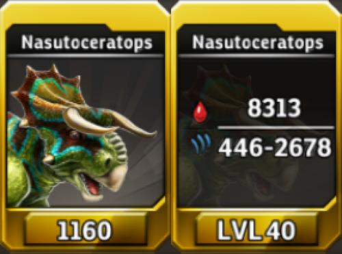 Nasutoceratops Level 40 Tournament-Battle Arena Profile Picture