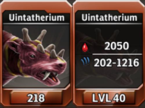 Uintatherium Level 40 Tournament-Battle Arena Profile Picture
