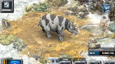 Jurassic Park Builder - Uintatherium Glacier Park