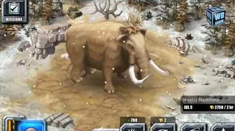 Jurassic Park Builder - Woolly Mammoth Glacier Park Animal 2