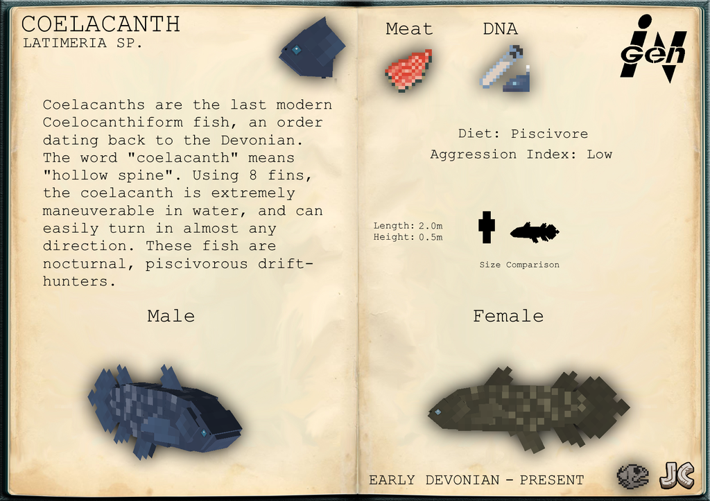 Coelacanth | JurassiCraftMod Wikia | FANDOM powered by Wikia