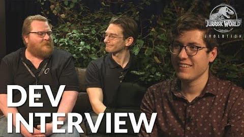 Jurassic World Evolution - Developer Interview (ft. Michael Brookes & Andy Fletcher)