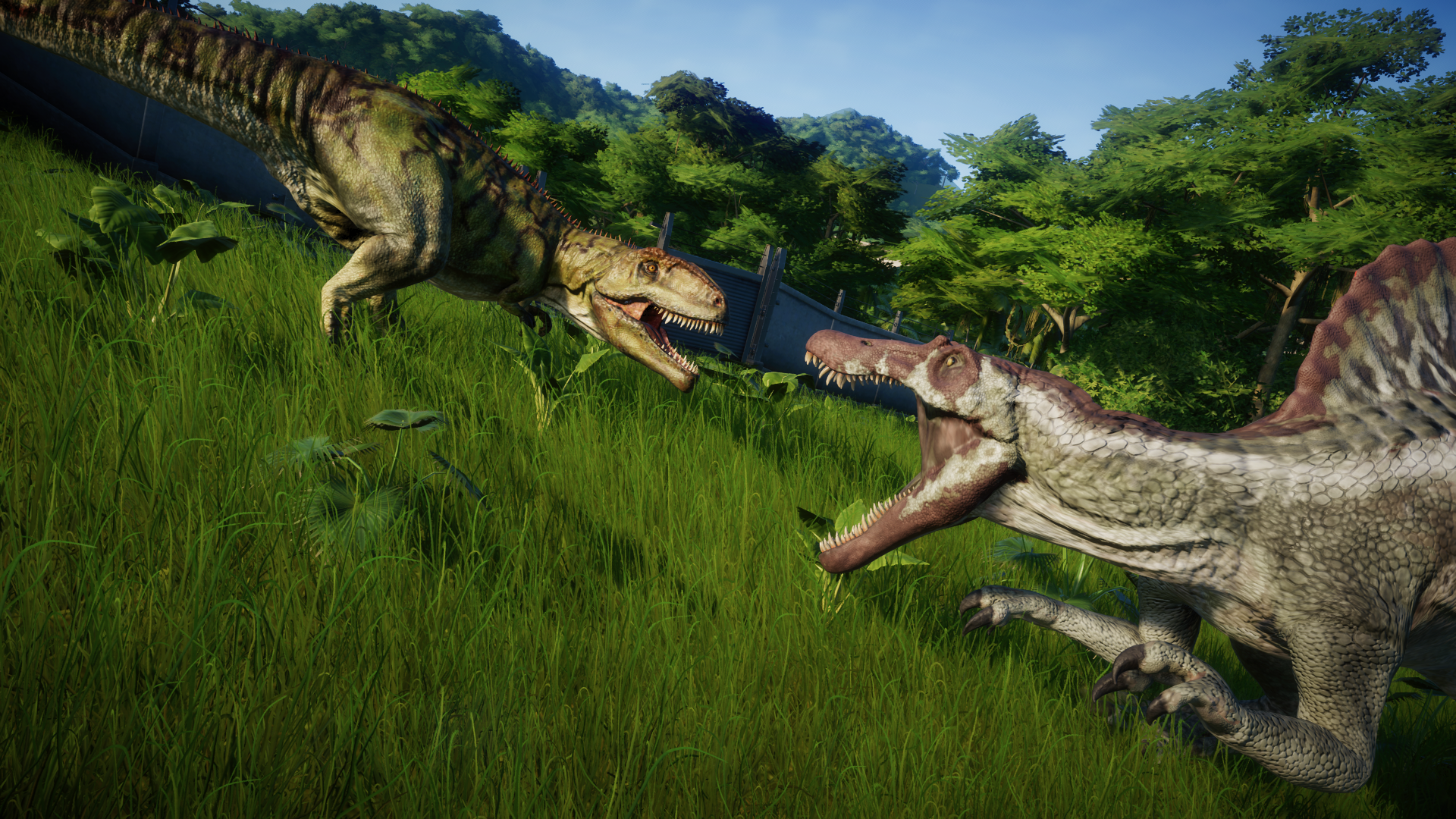image giganotosaurus vs spinosaurus png jurassic world evolution