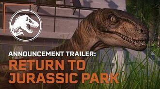 Jurassic World Evolution Return to Jurassic Park Announcement Trailer