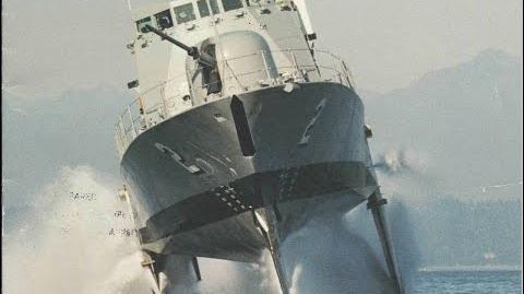 Hydrofoil corvette