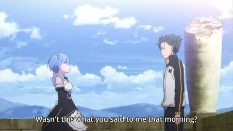 Re Zero Episode 18 Rem And Subaru Confession Scene