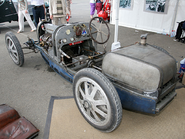 Bugatti Type 35 (left rear corner with no body panels)