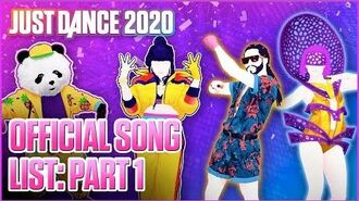 Just Dance 2020 Official Song List - Part 1 US
