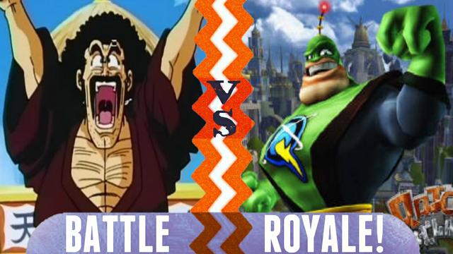 File:Battle Royale Hercule Satan vs Captain Qwark.png
