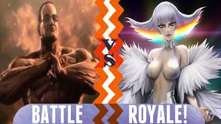 Battle Royale Senator Armstrong vs Ragyo Kiryuin
