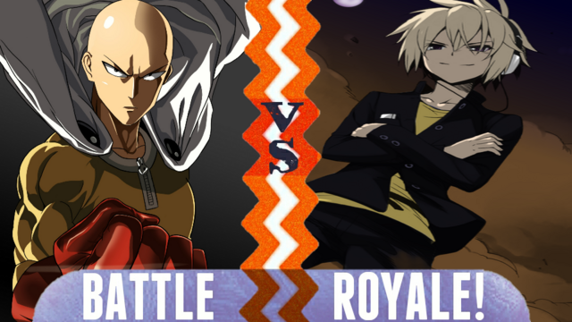 File:Battle Royale Saitama vs Sakamaki Izayoi.png