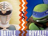 White Ranger vs. Leonardo