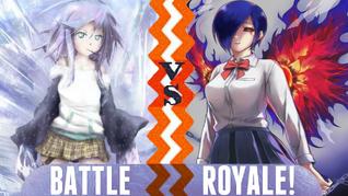 Battle Royale Mizore Shirayuki vs Touka Kirishima