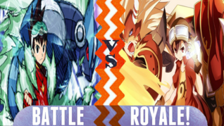 Battle Royale Geo Stelar vs Takuya Kanbara