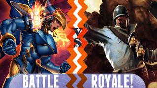 Battle Royale Pharah vs The Soldier
