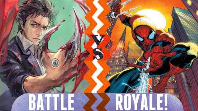 File:Battle Royale Shinichi Izumi vs Spider Man.png