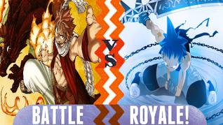 Battle Royale Natsu Dragneel and Igneel vs Black Star and Tsubaki Nakatsukasa