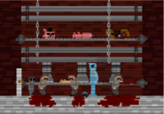 Blue guy factory