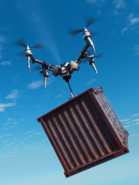Drone with crate