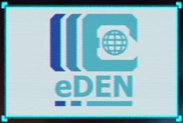 EDEN logo during mission cut-scenes