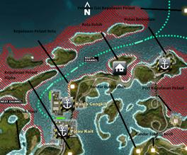 Pulau Kait harbor map