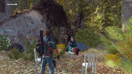 JC3 stubborn old woman at a destroyed town