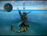 Just Cause 2 - Pelantar Gas Panau Timur - offshore rig 001