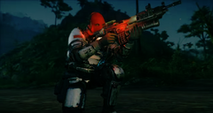 JC4 Colonel (aims his gun on one knee)
