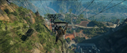 JC4 cable cars over jungle base