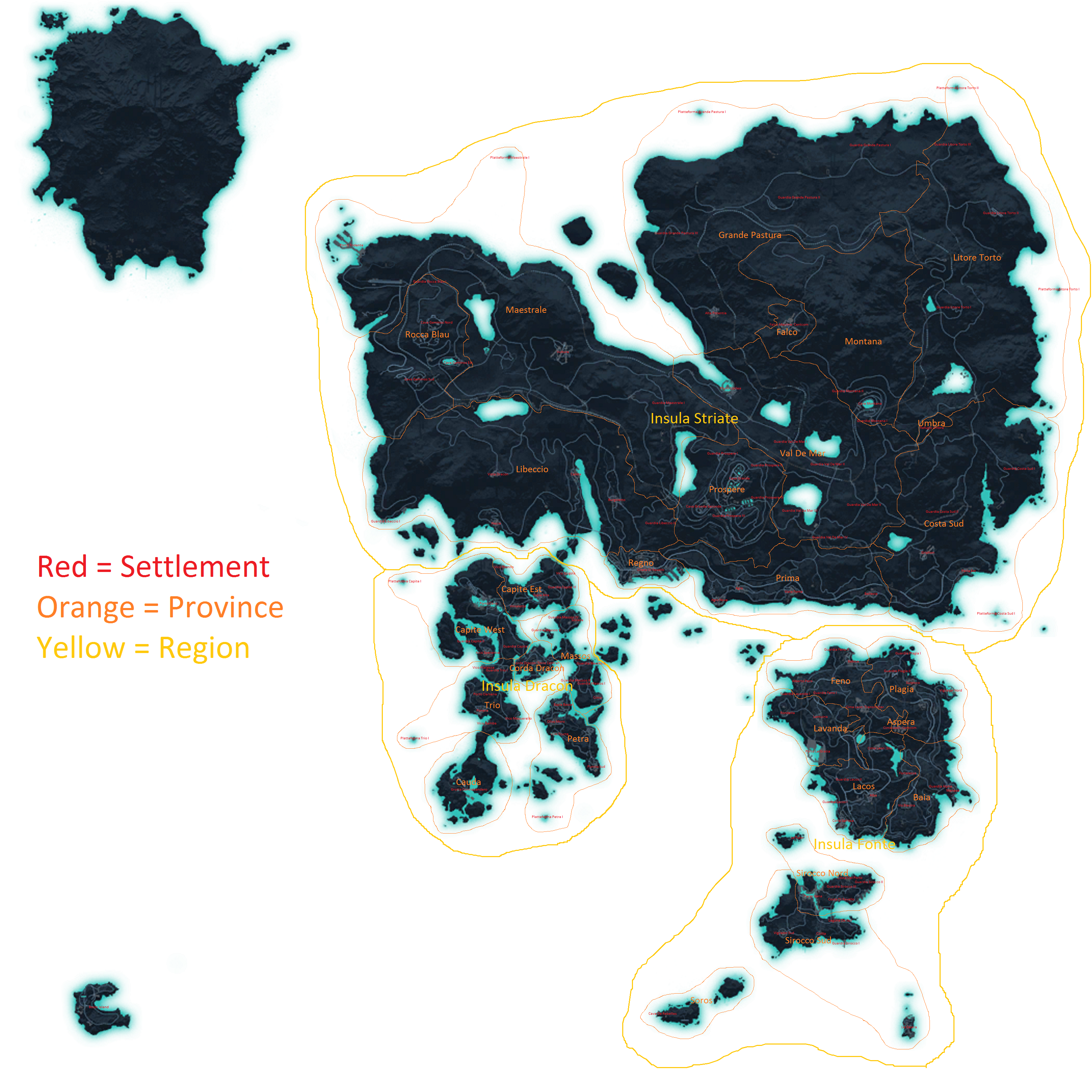 Just Cause 3 political map Maps