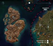 Map of Isla Santuario