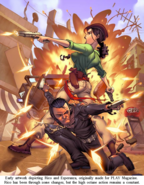 JC1 artwork (early Rico and Esperanza at an explosion)
