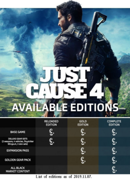 JC4 editions table (2019.11.07)