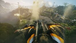 JC4 leaked screenshot (wingsuiting at a military base)