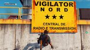Vigilator Nord big yellow sign