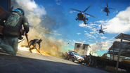 Just Cause 3 police and helicopters