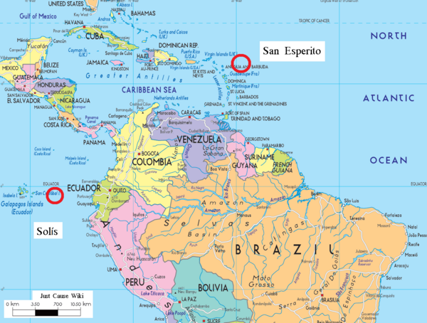 Were Is Solis Located On The World Map Just Cause Wiki