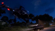 JC3 helicopter and jeep