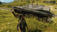 Warchief Assault Tank (left side suspension demonstration)