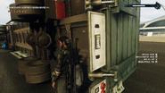 Cargo trailer truck (trailer underside details)