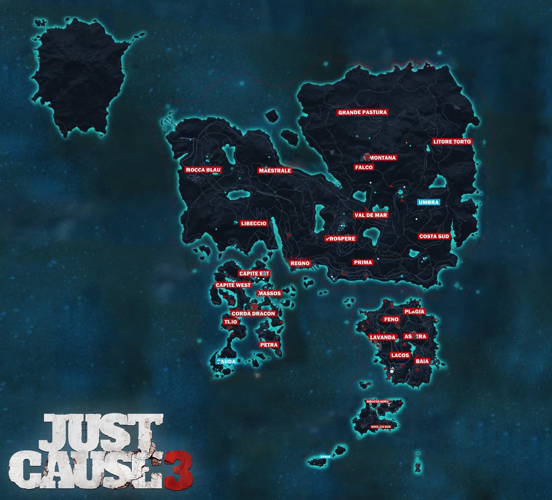 Medici area names map 2 Maps